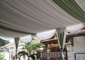 Tenda dekorasi Serut