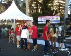 Sewa Tenda untuk acara car free day Jakarta
