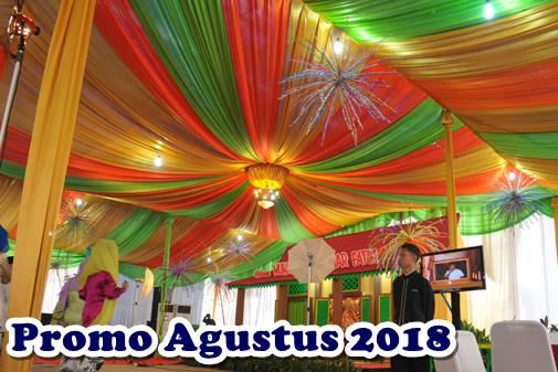 promo sewa tenda bulan Agustus 2018